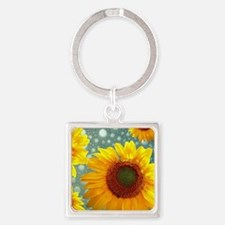 Happy Bubbly Sunflowers Keychains