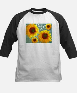 Happy Bubbly Sunflowers Baseball Jersey