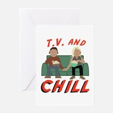 TV & Chill Greeting Cards