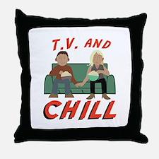 TV & Chill Throw Pillow