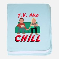 TV & Chill baby blanket