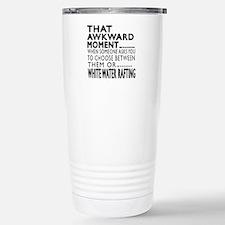 White Water Rafting Awk Travel Mug