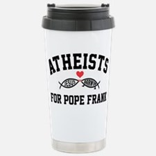 Atheists for Pope Frank Travel Mug