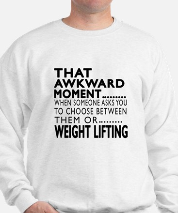 Weight Lifting Awkward Moment Designs Sweater