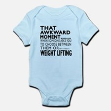 Weight Lifting Awkward Moment Desi Infant Bodysuit