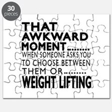 Weight Lifting Awkward Moment Designs Puzzle