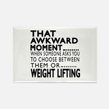 Weight Lifting Awkward Moment Des Rectangle Magnet