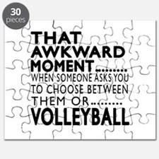 Volleyball Awkward Moment Designs Puzzle