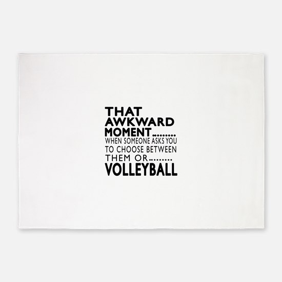 Volleyball Awkward Moment Designs 5'x7'Area Rug