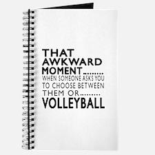 Volleyball Awkward Moment Designs Journal