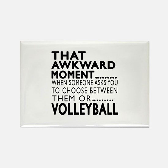 Volleyball Awkward Mome Rectangle Magnet (10 pack)