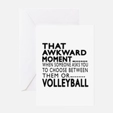 Volleyball Awkward Moment Designs Greeting Card