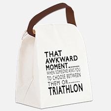 Triathlon Awkward Moment Designs Canvas Lunch Bag
