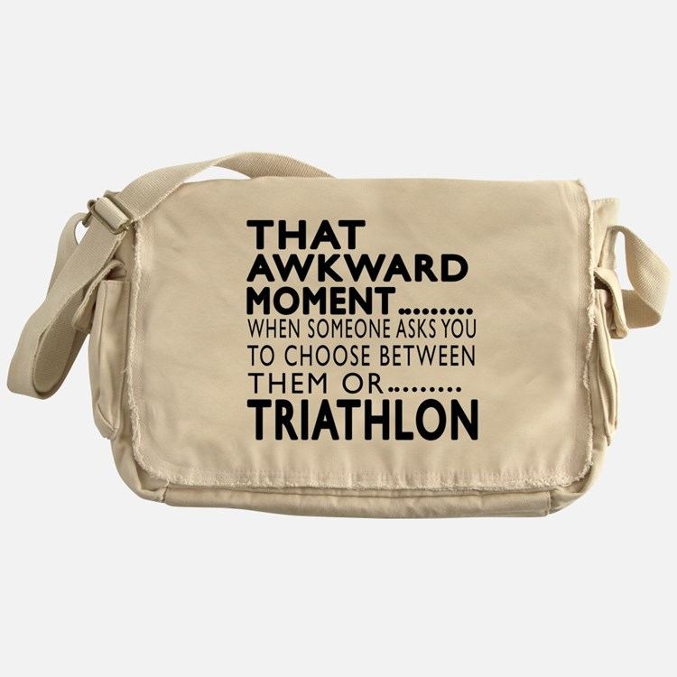 Triathlon Awkward Moment Designs Messenger Bag