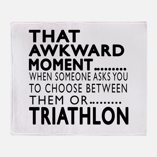 Triathlon Awkward Moment Designs Throw Blanket
