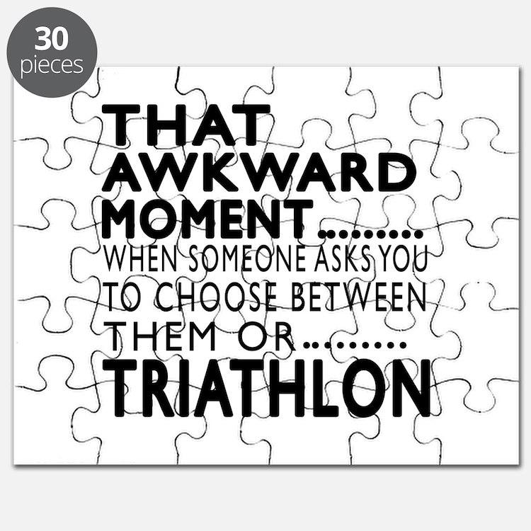 Triathlon Awkward Moment Designs Puzzle