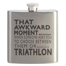 Triathlon Awkward Moment Designs Flask