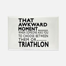 Triathlon Awkward Moment Designs Rectangle Magnet