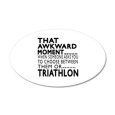 Triathlon Awkward Moment Des Wall Decal
