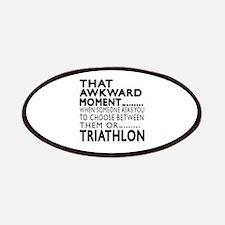 Triathlon Awkward Moment Designs Patch