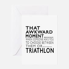 Triathlon Awkward Moment Designs Greeting Card