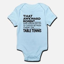 Table Tennis Awkward Moment Design Infant Bodysuit