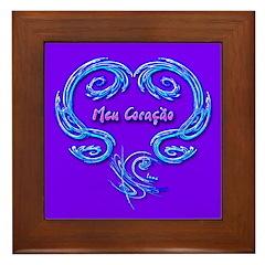 Meu Coraçao Framed Art Tile