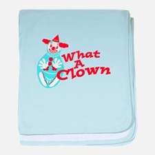 What A Clown baby blanket