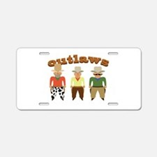 Shooting Gallery Outlaws Aluminum License Plate