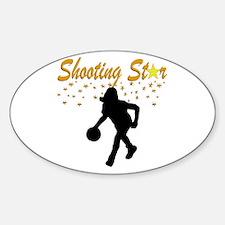 LOVE BASKETBALL Sticker (Oval)