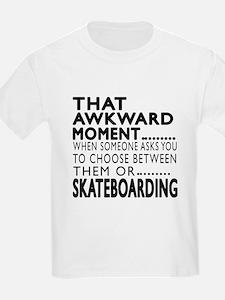 Skateboarding Awkward Moment De T-Shirt