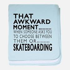 Skateboarding Awkward Moment Designs baby blanket