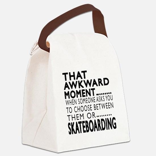 Skateboarding Awkward Moment Desi Canvas Lunch Bag
