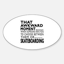 Skateboarding Awkward Moment Design Decal