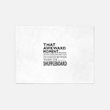 Shuffleboard Awkward Moment Designs 5'x7'Area Rug