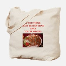 a funny food joke Tote Bag