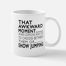 Show Jumping Awkward Moment Designs Mug