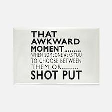 Shot Put Awkward Moment Designs Rectangle Magnet