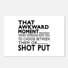 Shot Put Awkward Moment D Postcards (Package of 8)