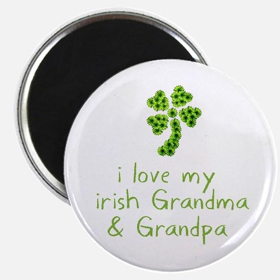 """I Love my Irish Grandma & Gra 2.25"""" Magnet (10 pac"""