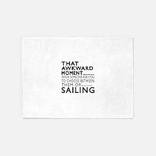 Sailing Awkward Moment Designs 5'x7'Area Rug