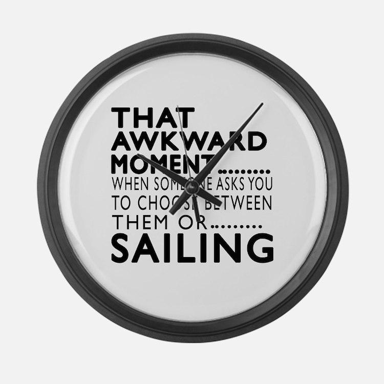 Sailing Awkward Moment Designs Large Wall Clock