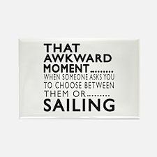 Sailing Awkward Moment Designs Rectangle Magnet