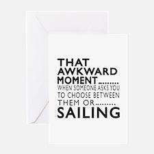 Sailing Awkward Moment Designs Greeting Card