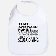 Scuba Diving Awkward Moment Designs Bib
