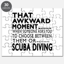 Scuba Diving Awkward Moment Designs Puzzle