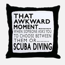 Scuba Diving Awkward Moment Designs Throw Pillow