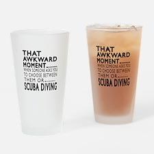 Scuba Diving Awkward Moment Designs Drinking Glass