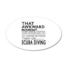 Scuba Diving Awkward Moment Wall Decal