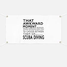 Scuba Diving Awkward Moment Designs Banner